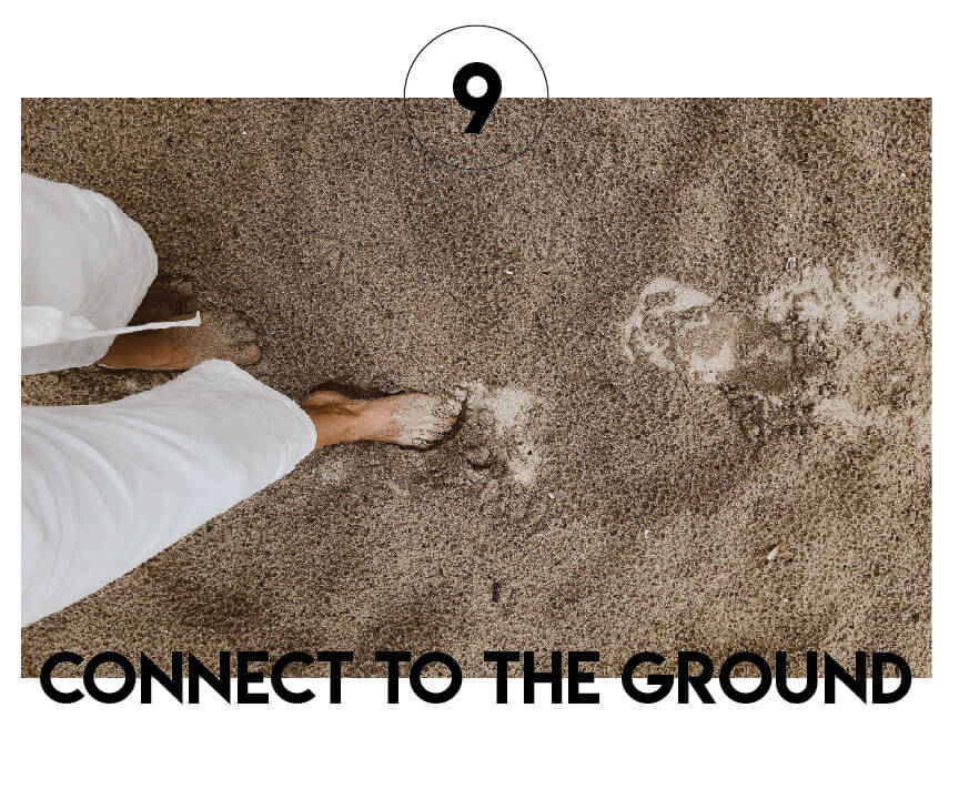 Connecting to the ground.